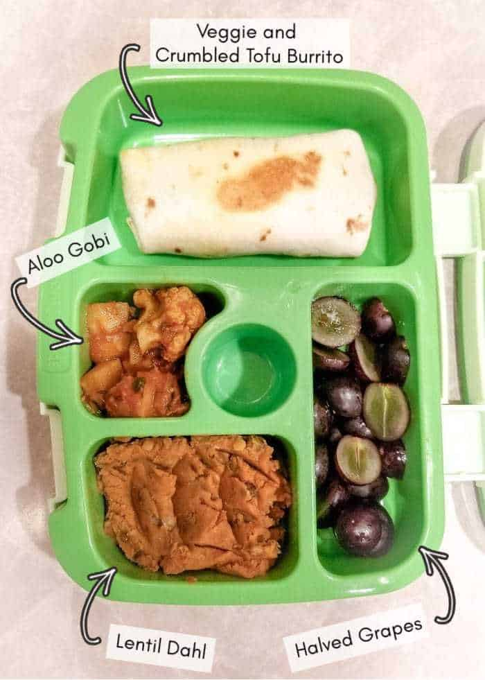 Vegan daycare lunchbox food, example #17