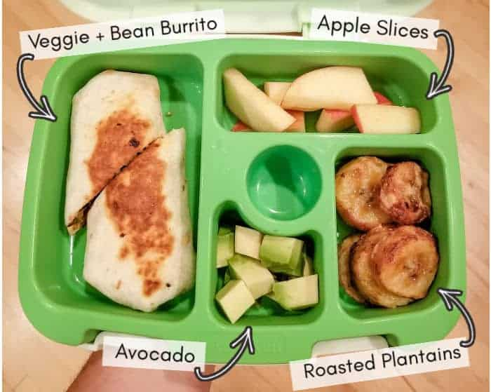 Vegan daycare lunchbox for my toddler, example 2