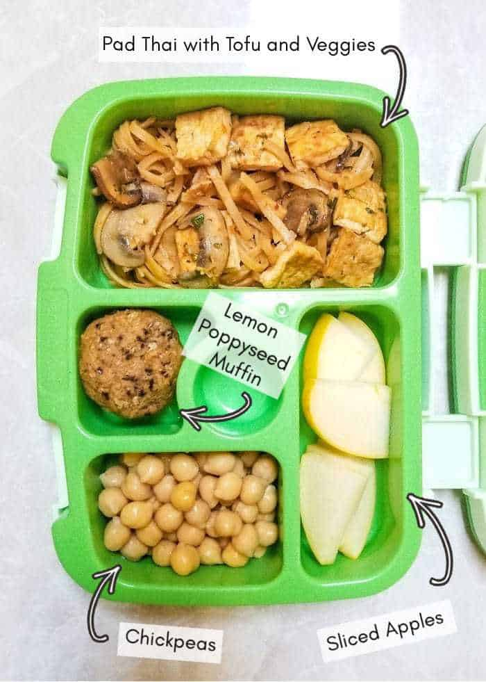 Daycare lunchbox for my vegan toddler, example #20