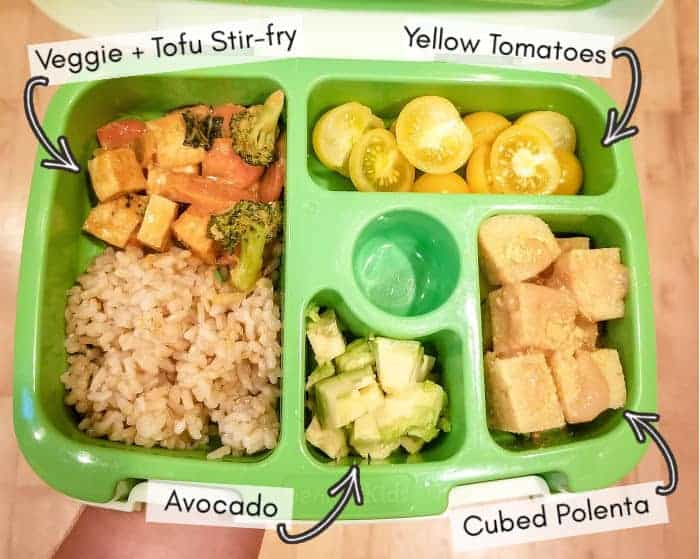Vegan toddler lunchbox for daycare, example 3