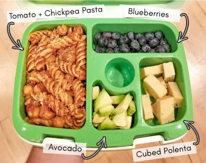 Vegan daycare lunchbox for my toddler, example 4