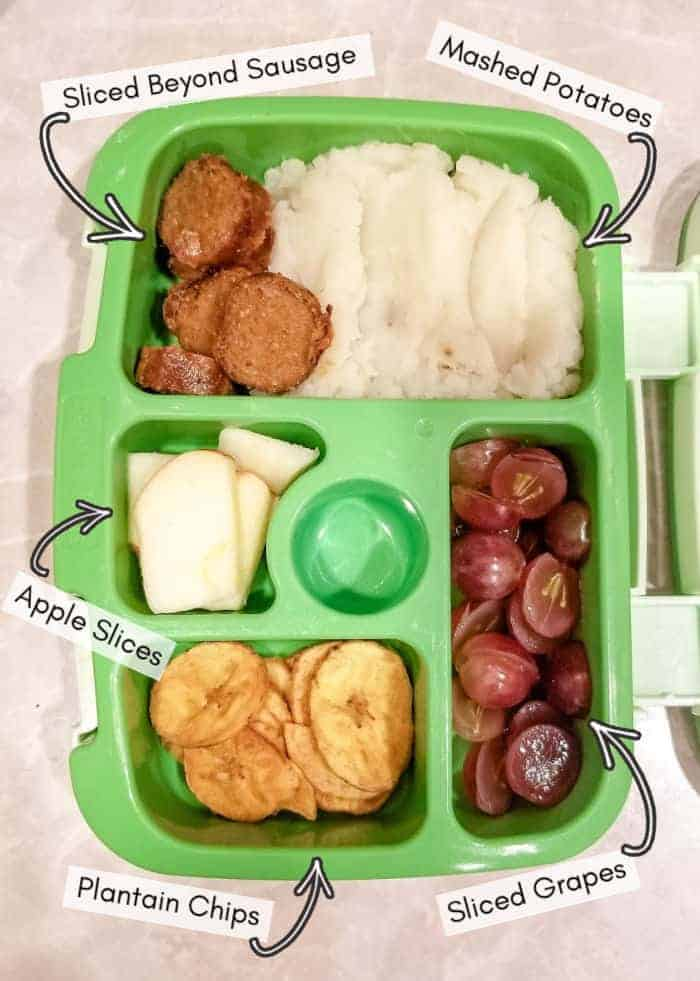My toddler's vegan daycare lunchbox - example 5