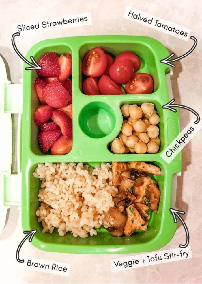 Vegan daycare lunchbox for my toddler, example 6