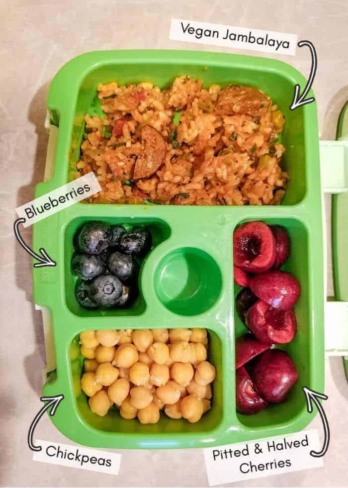 What I put into my vegan toddler's daycare lunchbox, example #7