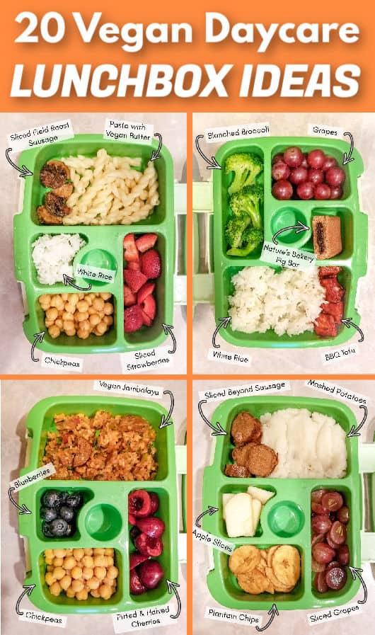 Vegan lunchbox ideas for school or daycare