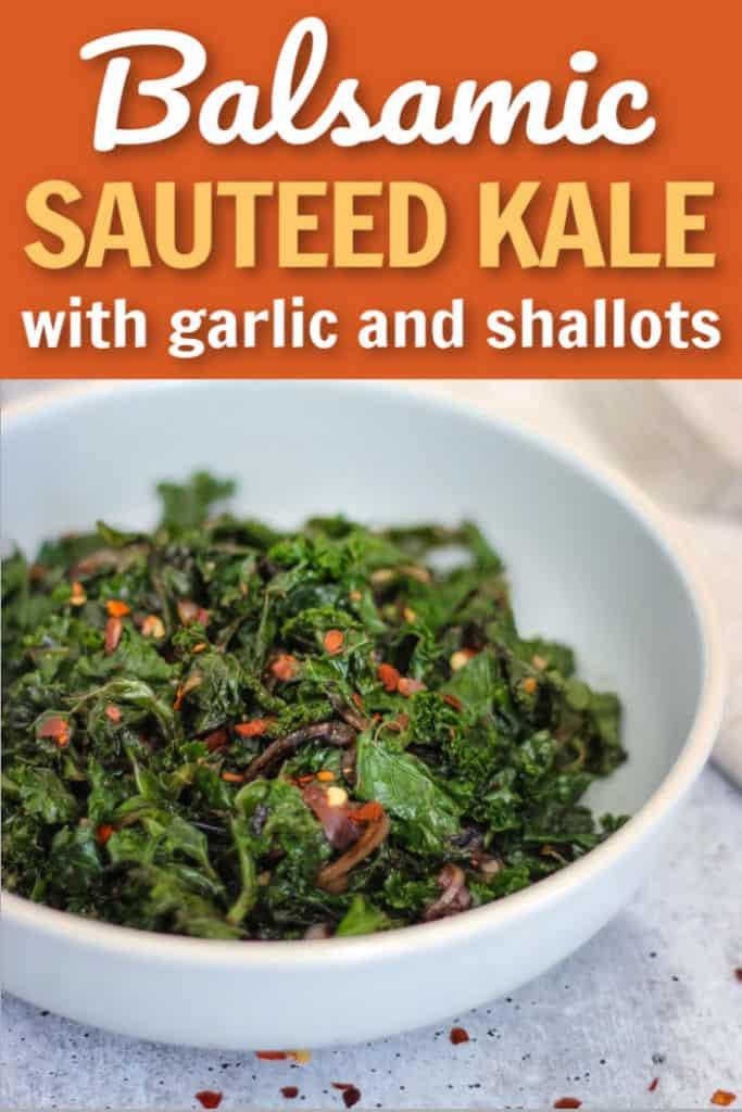 Balsamic sautéed kale and onions