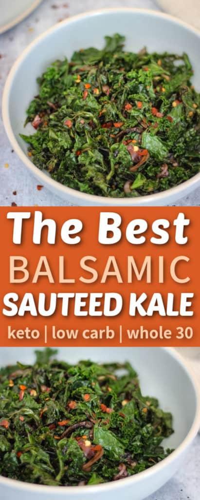The best balsamic sautéed kale
