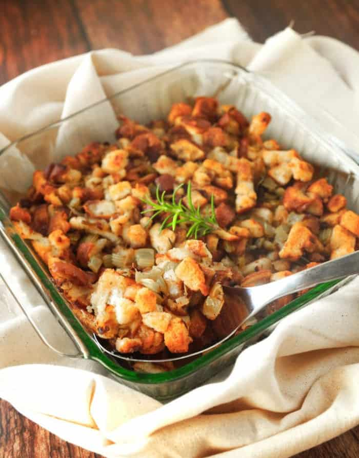 Vegan stuffing recipe from Wow It's Veggie blog