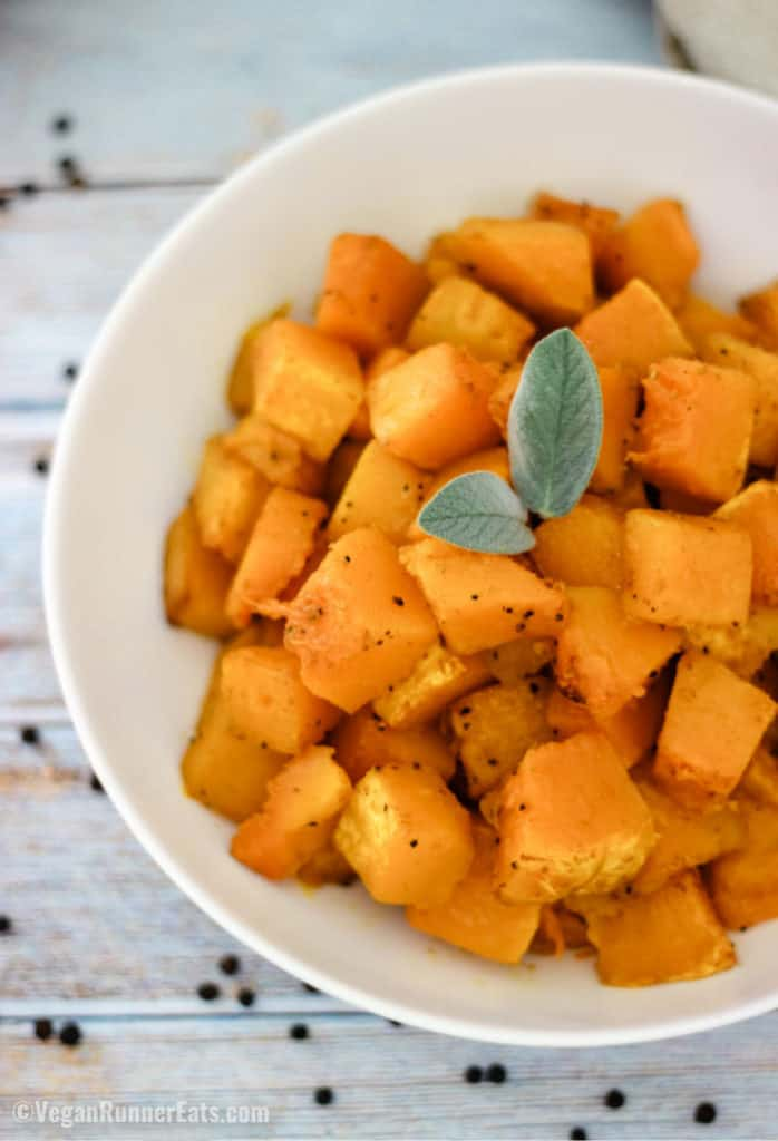 Easy roasted butternut squash recipe, Italian or Indian-style