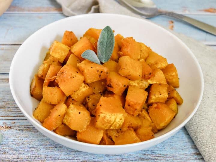 Italian roasted butternut squash recipe + a secret trick to peeling and chopping a whole butternut squash easily