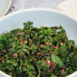 Easy Sauteed Kale and Onions with Balsamic Reduction