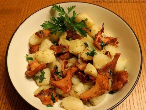 Chanterelle Potato Stir Fry With Herbs