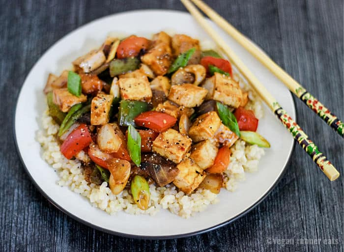 Vegan Chinese recipes with tofu and vegetables