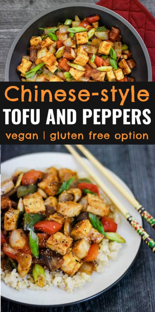 Chinese-style tofu and peppers