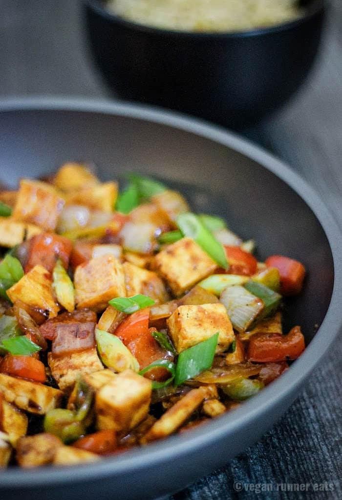 How to make Szechuan tofu - a spicy vegan stir fry recipe