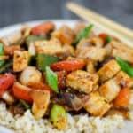 Vegan Szechuan Tofu and Peppers