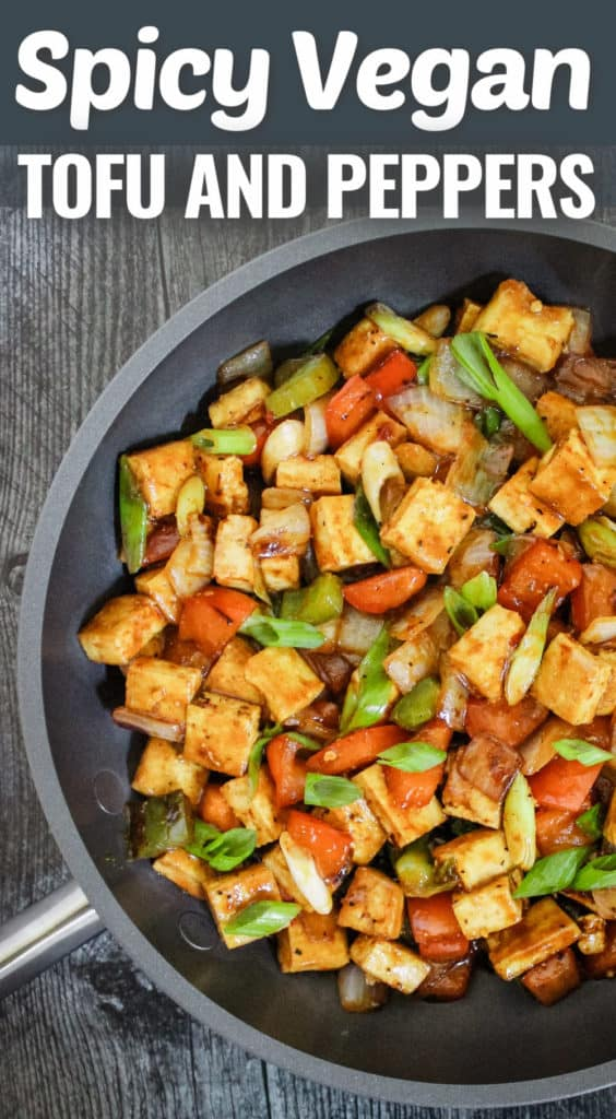 Spicy Vegan Tofu and Peppers