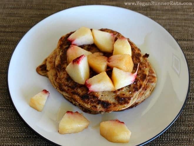 Vegan Japanese Sweet Potato and Chia Pancakes