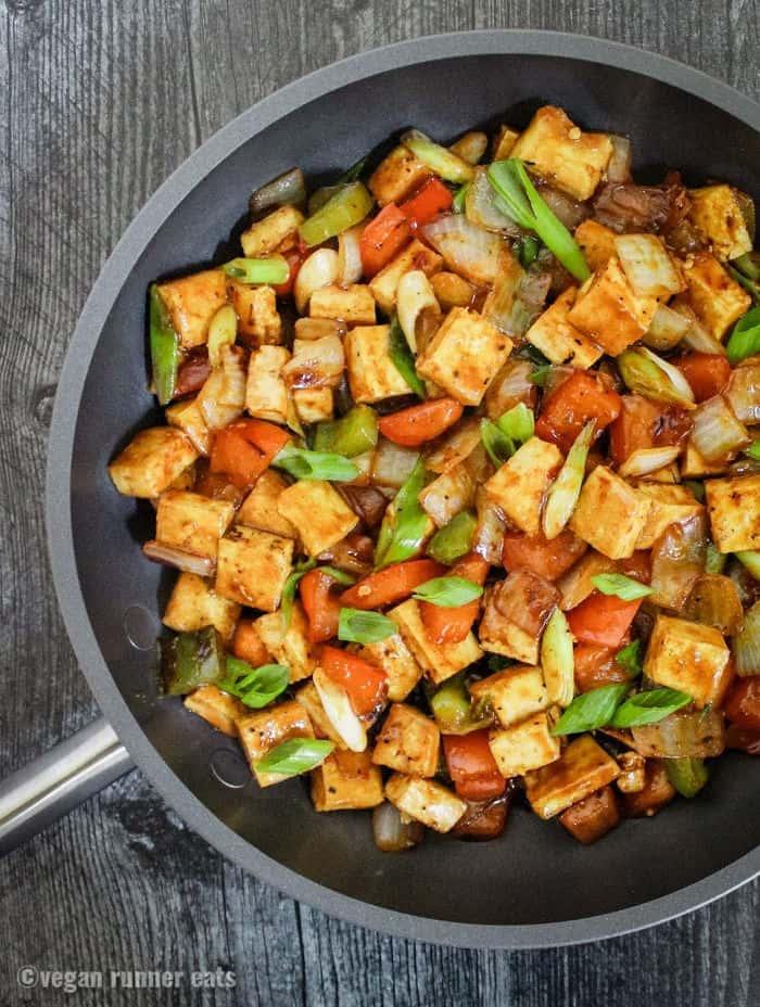 Vegetarian Szechuan tofu recipe with easy homemade sauce