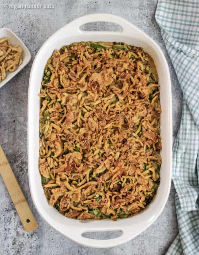 How to make dairy free green bean casserole: step by step instructions