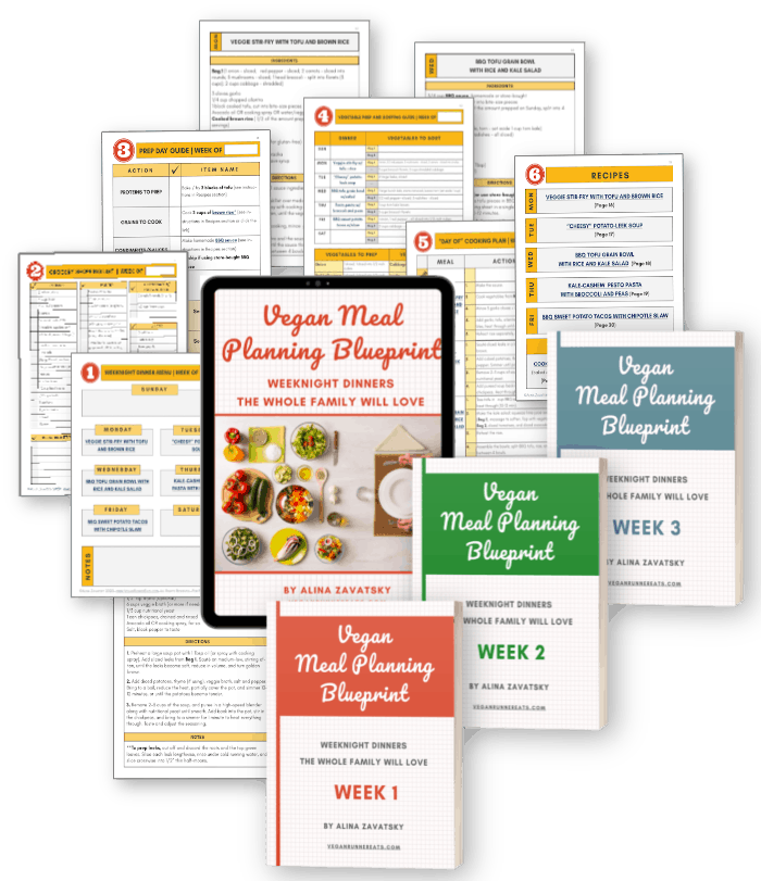 Vegan meal plan for 3 weeks