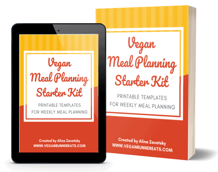 Vegan Meal Planning Starter Kit templates mockup