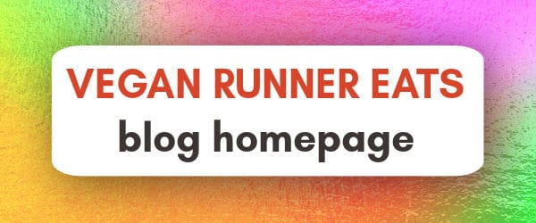 Vegan Runner Eats blog homepage