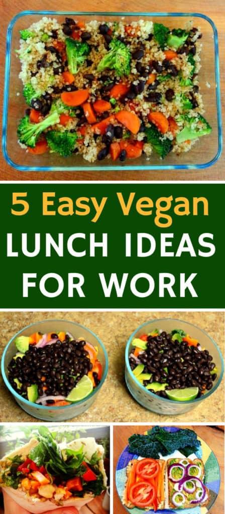 5 easy vegan lunch ideas for work