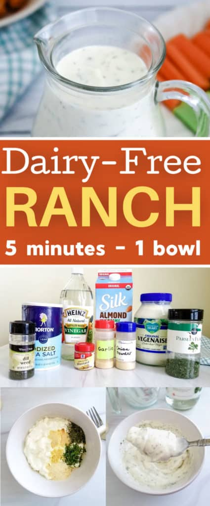 Easy dairy free ranch dressing recipe - 5 minutes, 1 bowl