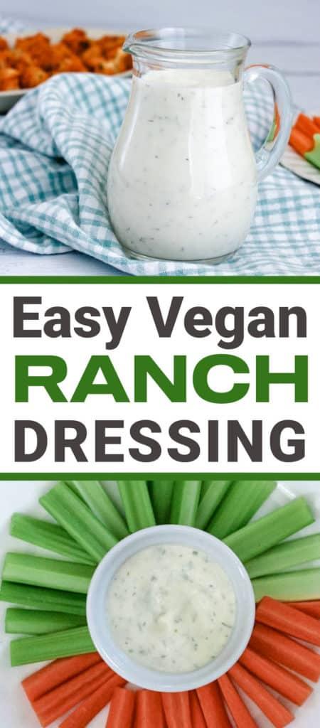 Easy vegan ranch dressing in 5 min