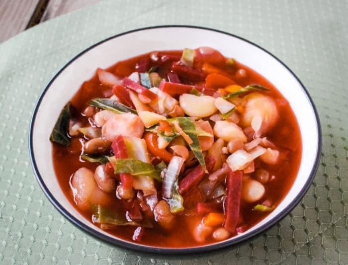 Authentic Russian borscht vegan style