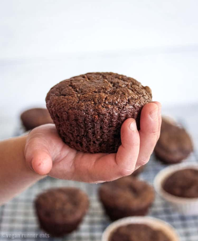Healthy vegan chocolate muffin recipe