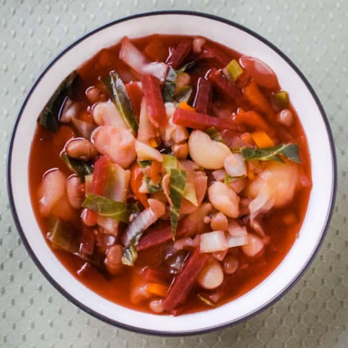 Russian borscht vegan recipe