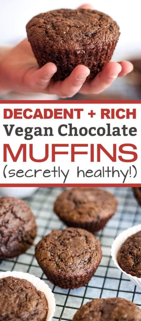 Vegan chocolate muffins - a secretly healthy plant-based recipe