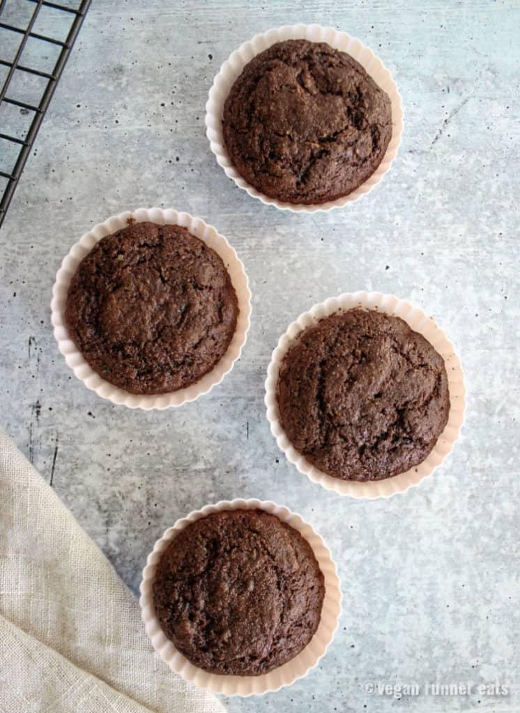 Zucchini muffins vegan oil free recipe