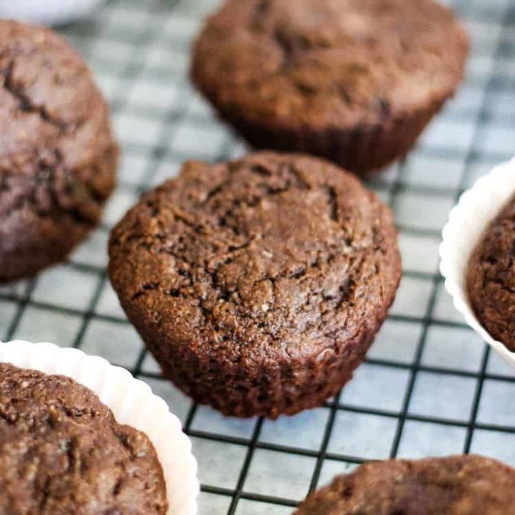 Zucchini muffins vegan recipe