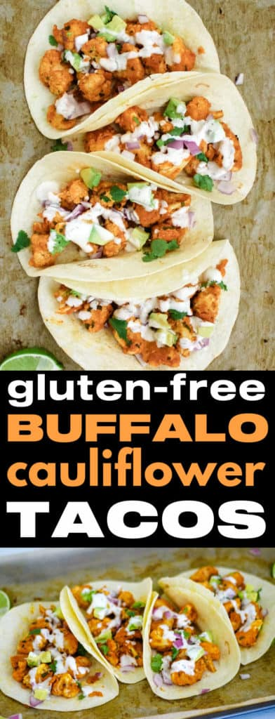 Gluten free buffalo cauliflower tacos