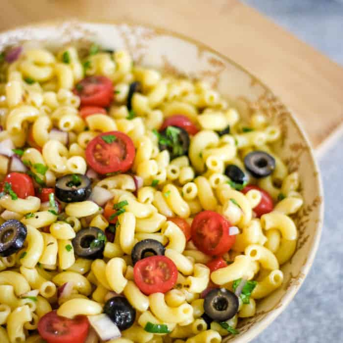 Easy vegan macaroni salad recipe mayo free
