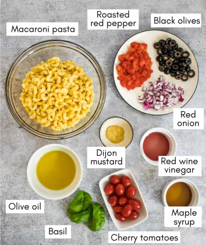 Vegan macaroni salad ingredients