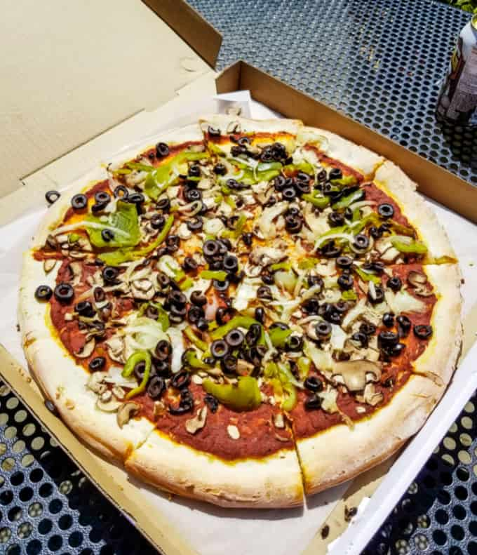 Vegan options at Village Pizzeria on Whidbey Island
