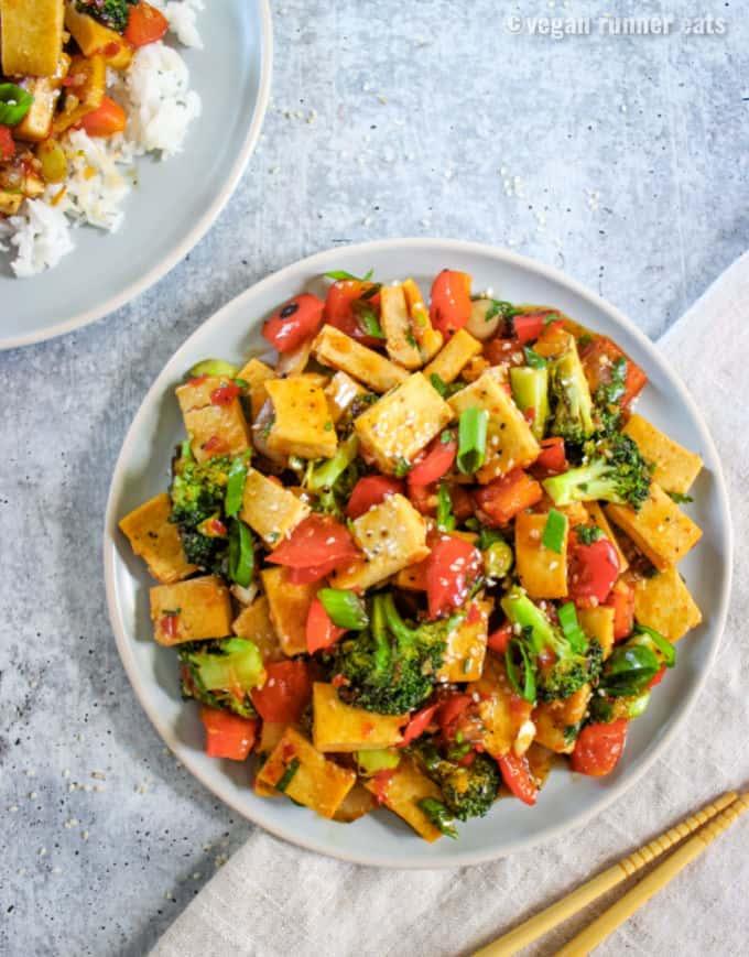 Sweet chili tofu recipe vegan gluten free