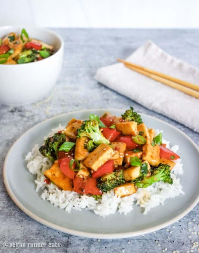 Sweet chili tofu stir fry recipe