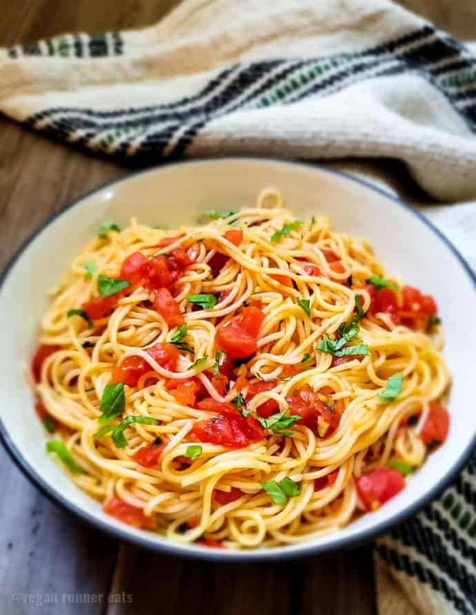 Vegan Capellini al Pomodoro pasta recipe